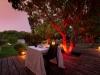 La terrasse de nuit, vu sur le jardin